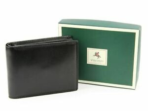 Visconti Real Leather Bifold Wallet, Black, MZ4 Monza, RFID Blocking, Gift Boxed