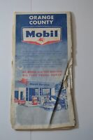 1964 Orange County Street Guide Map Mobil Pegasus Gas Station Vintage California