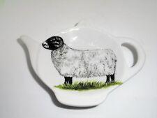BN Ceramic Sheep Tea Bag Rest Holder, Sheep Tea Bag Rest, Black-faced sheep rest