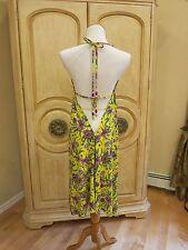 Jessica Simpson Swim Lemon Floral Bikini Cover Up  Dress Sz XL~ NWT $98