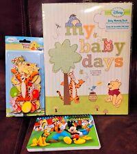 Disney Lot Winnie The Pooh Baby Memory Book Chipboard Embellishments.
