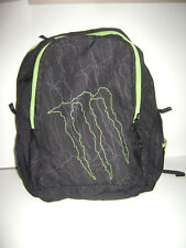 Monster Energy Drink Promotional Backpack Book Bag W/ Laptop Slot (RARE)
