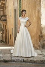 Brand New Unworn Annais Bridal Wedding Gown - Ivory - Size 10 - lace/satin
