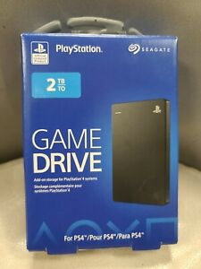 Seagate - STGD2000100 - 2 TB External PlayStation 4 Game Hard Drive Black SEALED