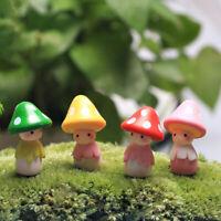 Miniatur Pilz Puppe Figur Blumentopf Fee Puppenhaus Dekor Garten-Ornament S M3K4