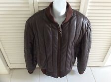 Valentino Couture Brown Quilted Nappa Leather Jacket VTG $2750 VG 46 Euro