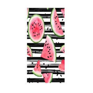 Tropical Watermelon Popsicle Striped Bath Pool Swim Spa Beach Towel Blanket Gift