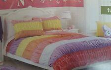 NEW CIRCO FULL 7PC Comforter Shams Sheet SET RUCHED Pink Orange Purple Aqua DOT