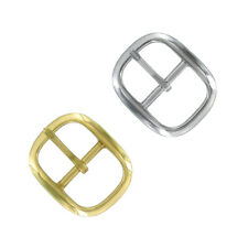 Polished Solid Brass Center Bar Buckle Replacement Metal Belt Buckle