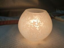 IKEA HAND Kugel Lampe Knubbig B1017 Glas Kirschblüten weiß - Lampe Leuchte