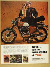 1968 BSA Spitfire Mk IV 650 motorcycle color photo vintage print Ad
