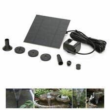 Solar Fountain Water Pump Panel Garden Pond Pool Submersible Watering Set Kit