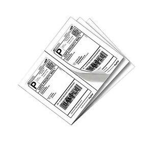 "SJPACK 200 Half Sheet Shipping Labels 5-1/2"" X 8-1/2"" Address Blank Labels La..."