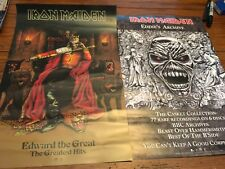 IRON MAIDEN EDWARD THE GREAT / EDDIE'S ARCHIVES 2-sided Promo Poster 11x17