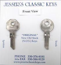Vintage BASCO GV-2 Pair Hex & Round Head NOS Keys 1930's Dusenberg Nash Indian