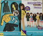 Creatable World Deluxe Character Kit Customizable Doll Brown Wavy Hair DC-965