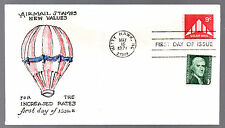 C77 -- Delta Wing Plane Air Mail -- First Day cover, Virgil Crow cachet