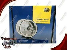 PAIR HELLA COMET 500FF KIT SPOT DRIVING LAMP LIGHT + COVERS RALLY JEEP TRUCK