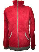 Fleecejacke rot unisex mit Reißverschluss jungen mädchen Pullover größe 164/170