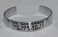 Quote By: ~ Walt Disney ~ / Engraved, Hand Polished Bracelet,Gift Bag