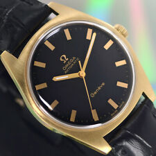 VINTAGE OMEGA Geneve AUTOMATIC 24 J CAL.552 GOLD PLATED ANALOG DRESS MEN'S WATCH