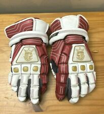 "Brine King 13"" Lacrosse Gloves Red / White with Floating Cuffs"