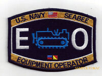 Equipment Operator EO RATING HAT PATCH US NAVY VETERAN PIN UP USS GIFT SEABEES