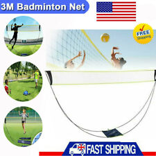 10Feet Portable Badminton Tennis Volleyball Net Set with Stand Frame Carry Bag