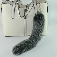 Women Stylish Comfortable Faux Fox Fur Tail Keychain Key Ring Handbag Pendant