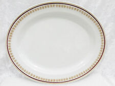 "Bristile / Wembley ware - Platter (11 5/8"")  vgc,  maroon band & gold filigree"