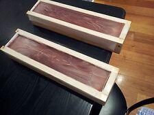 Wood Soap Molds 2 Molds Internal 435 x 75 x 90 mm 2.5 Kg Batch each mold