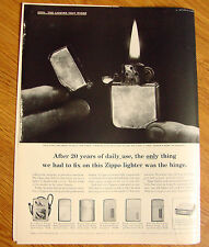 1960 ZIPPO Lighter Ad This Zippo Has Been in Daily Use since 1938