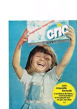 PUBLICITE ADVERTISING  1963    CRIO    lessive  linge blanc