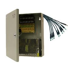 Power Supply Box CCTV CCD Camera 9 Port 12V DC+Pigtail
