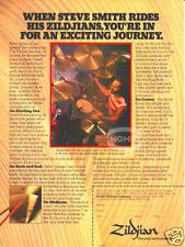 JOURNEY STEVE SMITH AD vintage 80s ZILDJIAN drum cymbal