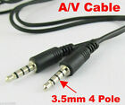 1pcs 3.5mm Male to Male 4way 3ring 4 pole TRRS AV cable 1M/3.3Ft 1set