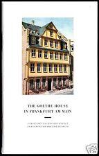 tour. Broschüre, The Goethe House in Frankfurt am Main, 1978