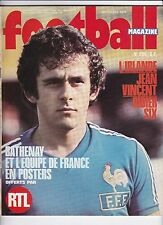 1976 football magazine n°206 EINDHOVEN SAINT ETIENNE IRLANDE BULGARIE J.VINCENT