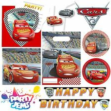 Pixar Cars 3 Birthday Party Tableware Decorations Favours