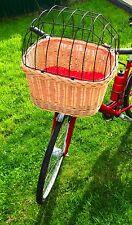 Hundekorb Fahrradkorb Lenker Einkaufskorb Transport Weide Gitter Hund Katze Vorn