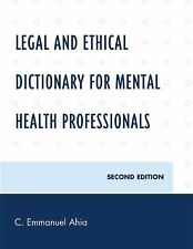 Legal and Ethical Dictionary for Mental Health Professionals-ExLibrary