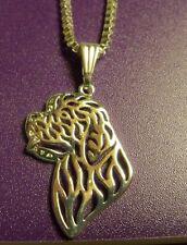 Newfie Newfoundland SAINT ST BERNARD Dog Necklace Pendant ~ Silver Tone