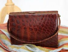 Vintage 40's Alligator Real Purse Handbag Made in France Carson Pirie Scott Co