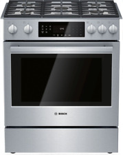 """New listing Bosch Hgi8056Uc 800 Series 30"""" Slide-In Gas Range w/Self Cleaning Oven Stainless"""