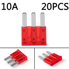 20Pcs Micro3 Fuse Automotive ATL 10A 3 Prong Micro Blade Fuse For Ford Focus