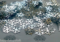 ❅Frozen Silver Snowflakes❅Table Confetti ❅Party Decorations❅Sprinkles Christmas