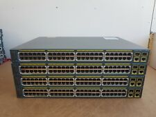 4 X Cisco WS-C2960-48PST-L SWITCH 48 Port PoE Catalyst Switches