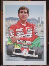 Ayrton Senna 1989 McLaren Honda 13x19 Inch Art Print only 300 Produced
