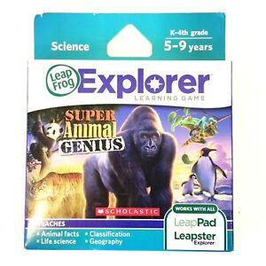 LeapFrog Super Animal Genius for LeapPad Leapster Explorer Science K-4th Grade