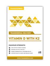 Transdermax Vitamin D with K2 Transdermal Patches - 6 Week Supply